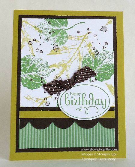 Happy Birthday With French Foliage Stamp Set By Stampin' Up!