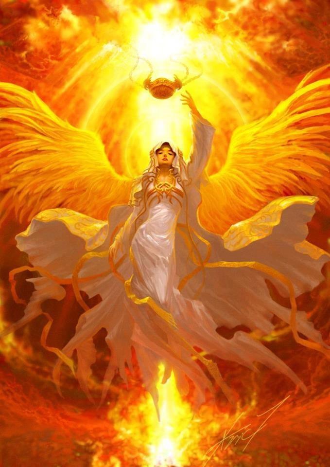 Orange glow angel
