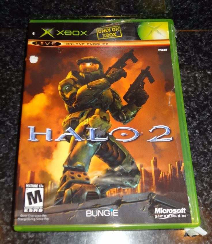 Halo 2 Microsoft Xbox - 2004 Video Game Vintage EUC Rated M MATURE - JB