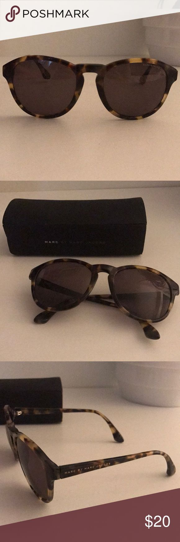 Marc by Marc Jacobs Tortoise Sunglasses Marc by Marc Jacobs Tortoise Sunglasses. They got a bit oversized and the case is a little worn... used to be my fav pair, I just wear smaller glasses than I used to! Marc By Marc Jacobs Accessories Sunglasses