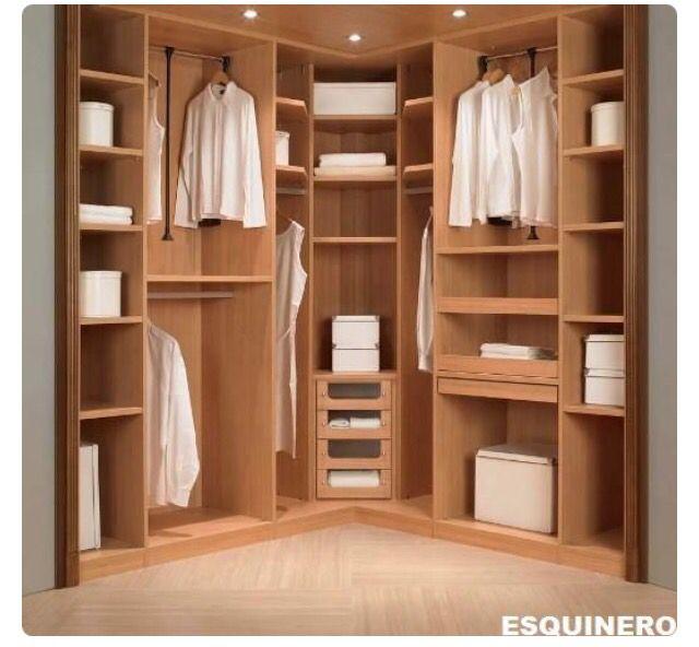 Las 25 mejores ideas sobre tocador de esquina en for Closet de madera para dormitorios