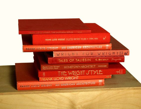 F.L Wright Books in Cherokee Red - his favorite color.