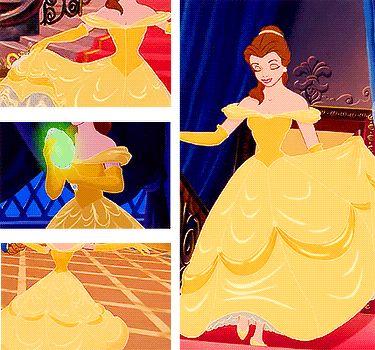 Анимации: Платья Дисней Принцесс