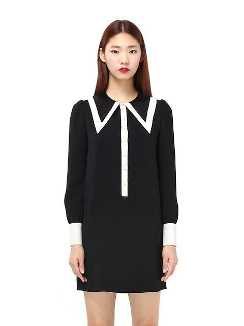 [WINTER SALE 30%+10%쿠폰][아이유착용] Spangle Collar Dress_D2CMA4018M