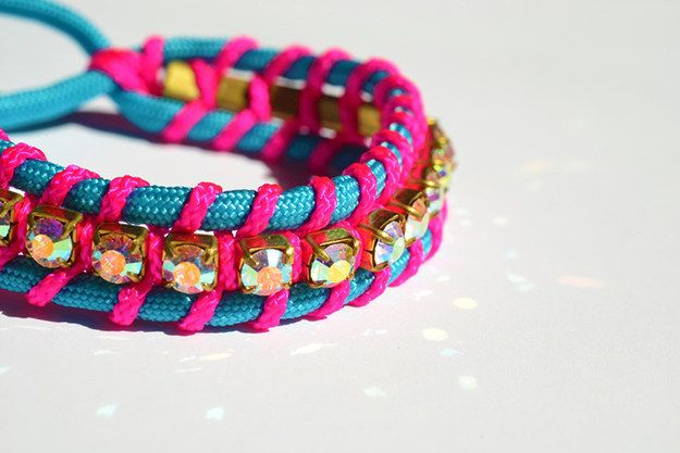 Kryształ Friendship Bracelet | 27 DIY Jewelry Projects That Are Actually Easy