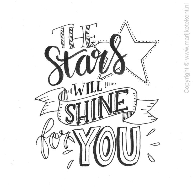 The Stars Will Shine For YOU www.marijketekent.nl