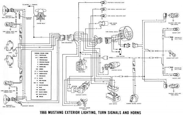 1966 mustang wiring diagrams  diagram mustang mustang 1966