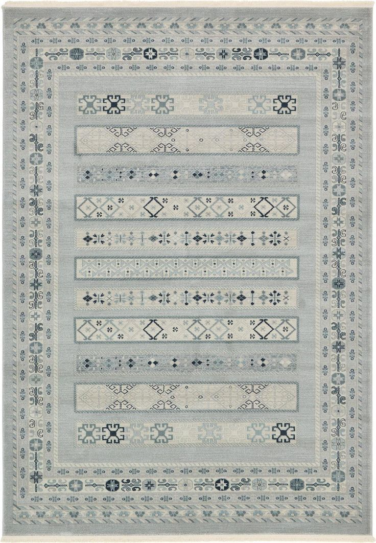Light Gray 7' x 10' Kashkuli Gabbeh Rug | Area Rugs | eSaleRugs