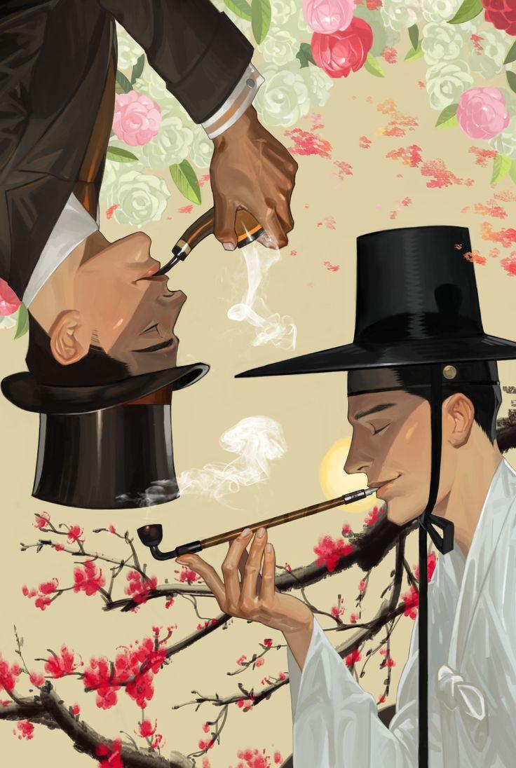 ArtStation - Seonbi, gentleman, cigarette, u kyoung An