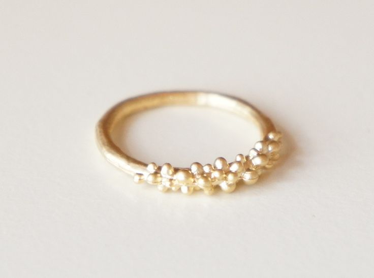Bubble ring - gold plated stack skinny ring- delicate dainty ring- modern minimalist jewelry for everyday. $10.00, via Etsy.