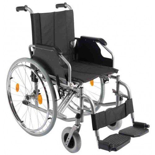 Faltbarer Rollstuhl TMB mit Steckachsensystem aus dem Hause Trendmobil GmbH nach Wahl HMV 10.50.02.0110 Mit seinem Gewicht von 16,9 bis 18,2 kg (ohne Fußstützen) je nach Sitzbreite und einer dabei höchstmöglichen Stabilität, der Faltbarkeit und seiner ansprechenden Optik setzt er einen neuen Maßstab! Serienmäßig mit Steckachsensystem (abnehmbare Hinterräder) und Waden- Fersengurt. Stabiler Rahmen aus Stahl und einfacher Faltmechanismus mit doppelter Kreuzstrebe. Sichere und leicht…