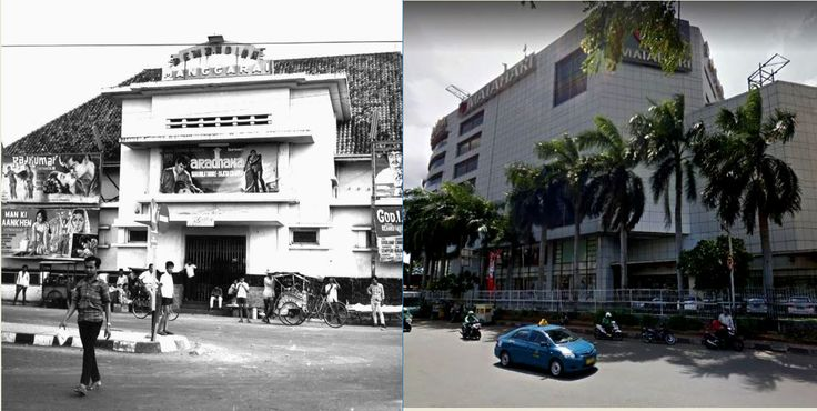Bioskop di ex Zwembad (kolam renang) Manggarai, Manggarai,  Jakarta, 1970an, ,.,  Pasar Raya di Manggarai, Jakarta, 2016