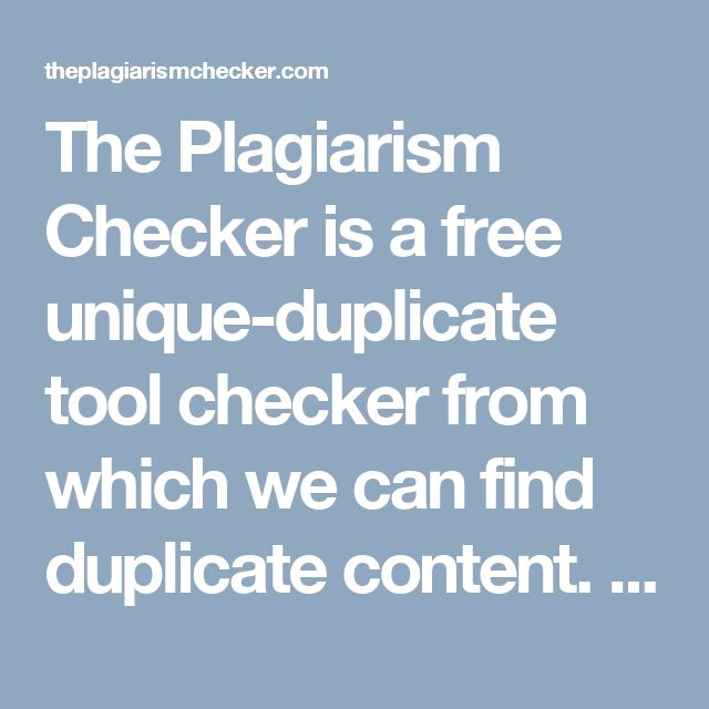 free plagiarism checker for college students