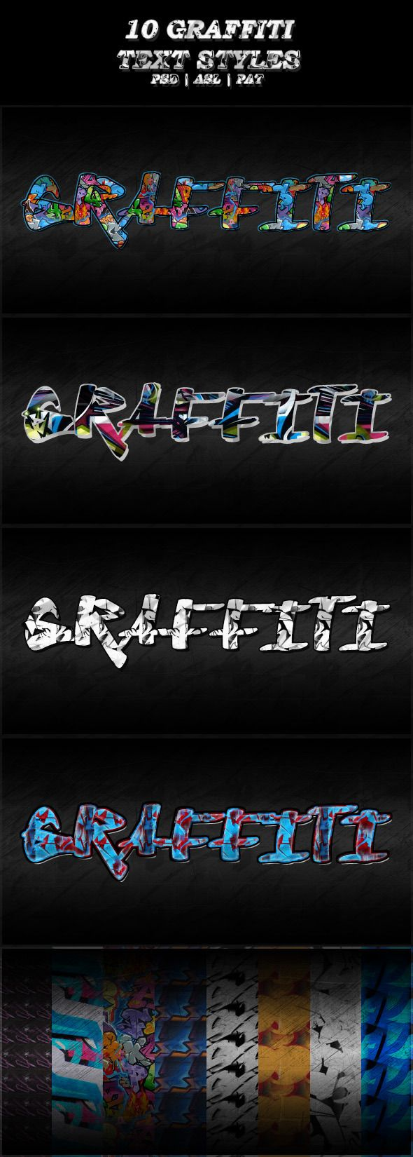 10 Different Graffiti Text Styles - Text Effects Styles