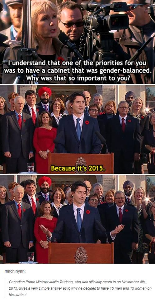 Justin Trudeau is my new favorite person.