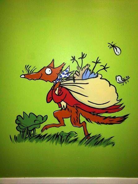Perrymount Book Characters Mural - Fantastic Mr Fox