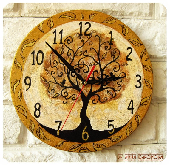 The Magic Tree  Wall Clock by ArtClock on Etsy, $40.00