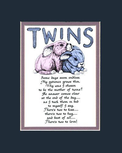 Twins Saying Home Decor Wall Sign by Calligraphy Company.....so cute :)