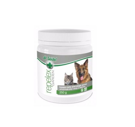 dr Seidel Repelex Garden 250 g. REPELEX Garden to preparat wydzielający zapach nieprzyjemny dla zwierząt, przez co unikają one zbliżania się do miejsc chronionych produktem. Dzięki zastosowaniu specjalnej technologii produkcji substancje aktywne powoli uwalniają się z granulek, co zapewnia długotrwałe działanie preparatu.