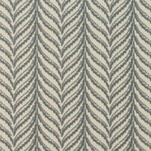 Bomuld sand/petrol abstrakt mønster - STOFF & STIL