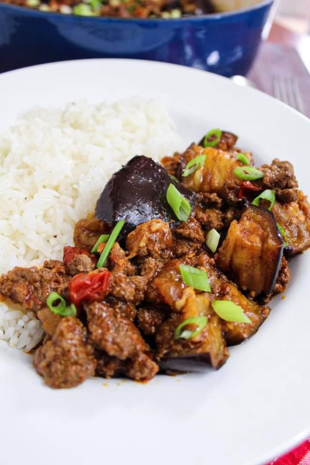 Eggplant Ground Beef Recipe Maral In The Kitchen In 2020 Ground Beef Recipes Health Dinner Recipes Beef Recipe Low Carb