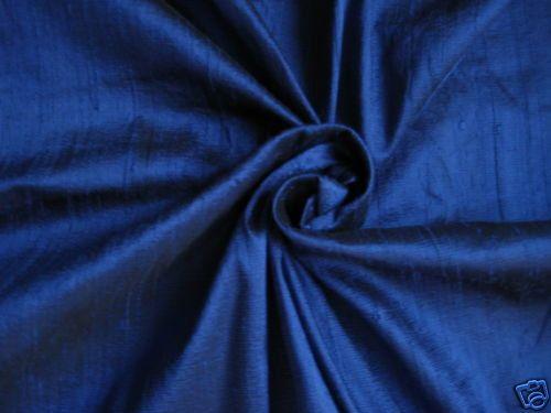"""Royal Blue 100% dupioni silk fabric yardage By the Yard 55"""" wide"""
