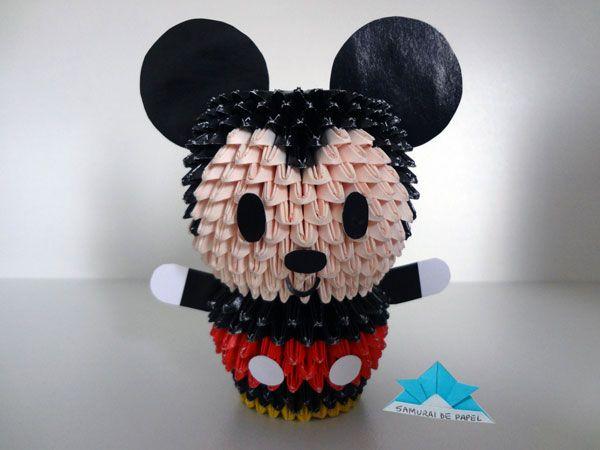 Origami 3D Mickey