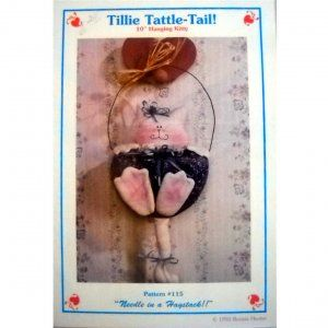 Needle in a Haystack Tillie Tattle Tail Hanging Kitty Like New Craft Pattern 1992 by Bonnie Hunter