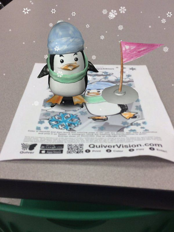 Mrs. Schettone's class made penguins on Quiver!