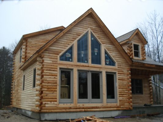 "Imitation ""log"" siding! GORGEOUS!!"