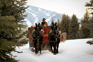 Sun Valley,  Sleigh Rides to Trail Creek Cabin.  I need to go back as a guest instead of employee!
