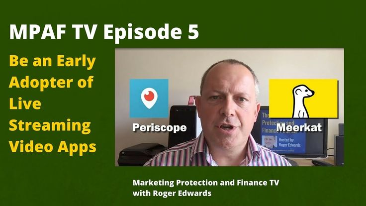 MPAFTV5 - Be an Early Adopter of Live Streaming Video Apps