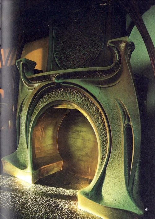 Art Nouveau Fireplace by Hector Guimard
