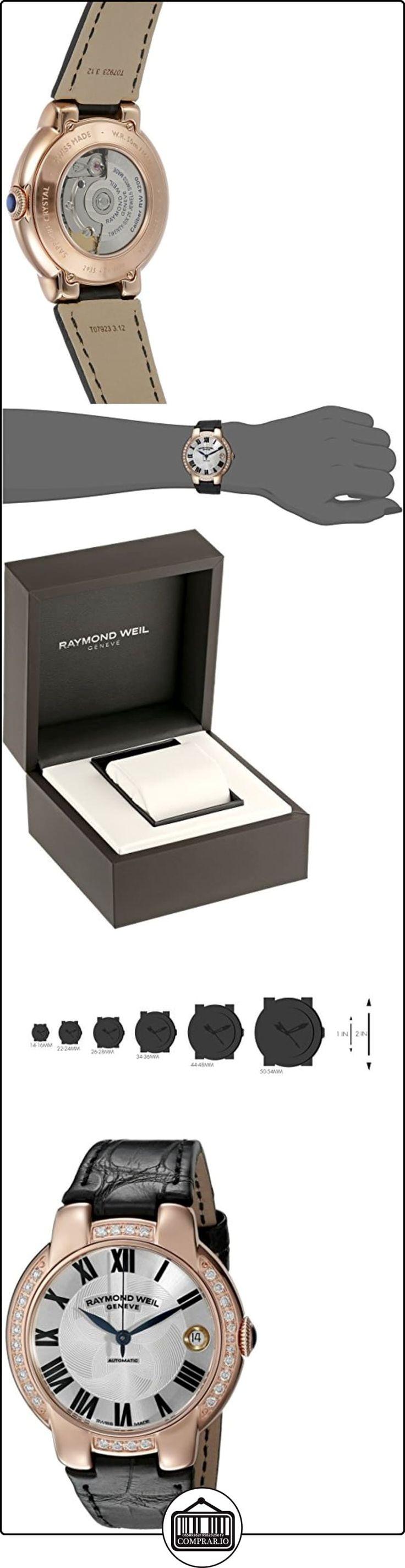 Raymond Weil Jasmine Automatic Rose Gold Steel & Diamond Womens Watch Date 2935-PCS-01659  ✿ Relojes para mujer - (Lujo) ✿