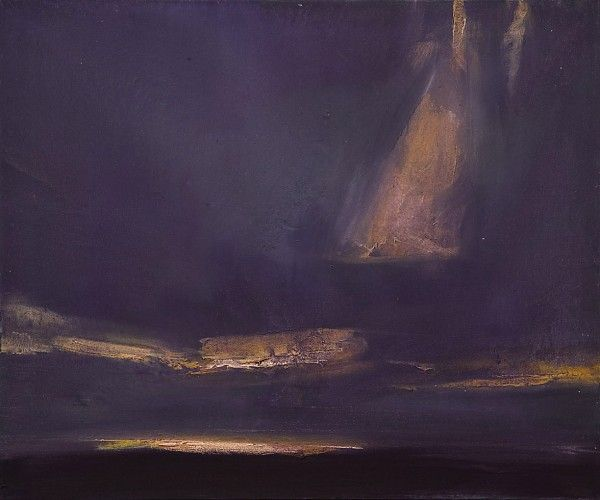 Ørnulf Opdahl: Havet ved midnatt, 2007, 100 x 120 cm