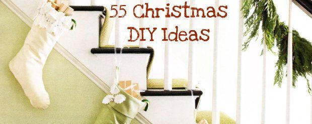 55 DIY Christmas Ideas! This picture of the stockings almost makes me want to rearrange the whole living room just so I can use the idea. almost...