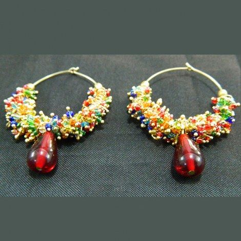 Multi Color Ghungroo Earrings -Jewellery-Bindurekha Fashion Studio