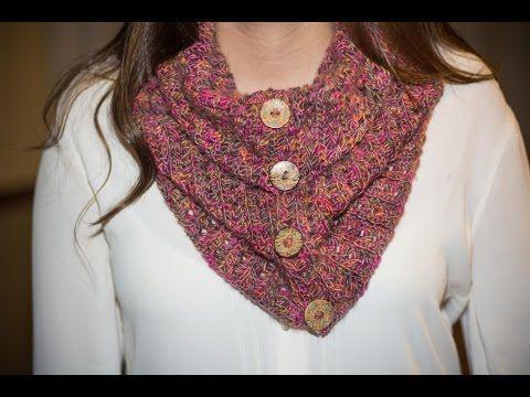Cuello bufanda en crochet paso a paso - YouTube