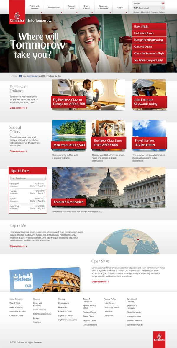 Emirates Airline by Paulo Foerster, via Behance