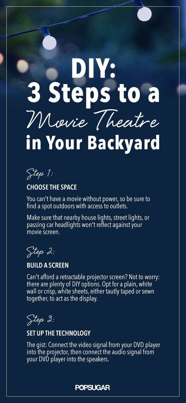 How to build a movie theatre in your backyard!