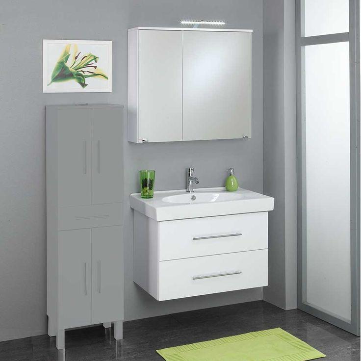 Badezimmermöbel Set In Weiß LED Beleuchtung (2 Teilig) Jetzt Bestellen  Unter: Https