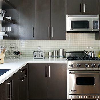 Kitchen Backsplash Glass Tile Dark Cabinets Backsplash Ideas For