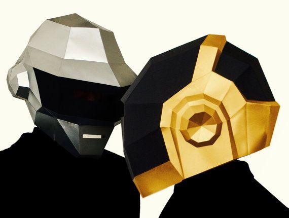 DIY Daft Punk Helmet Thomas and Guy-Manuel mask by AwesomePatterns