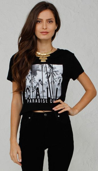 Paradise Cove Graphic Crop Tee
