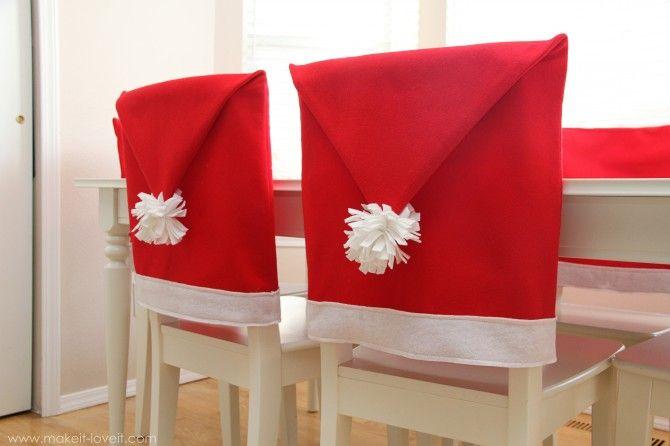 Santa Hat Chair Cover Tutorial