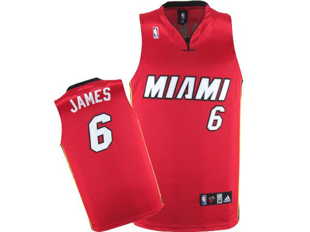 NBA Miami Heat #6 James Jersey - red , for sale online $16.99 - www