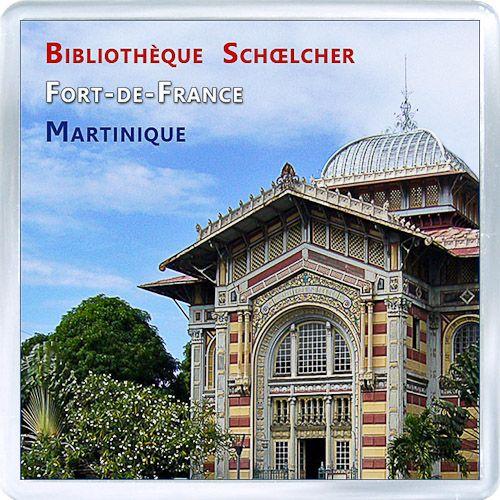 $3.29 - Acrylic Fridge Magnet: Martinique. Schoelcher Library. Fort-de-France
