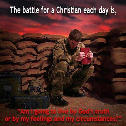 """2 Timothy 2:3-4 (KJV): """"Thou therefore endure hardness, as a good soldier of Jesus Christ. No man that warreth entangleth himself with the affairs of this life; that he may please him who hath chosen him to be a soldier."""""""