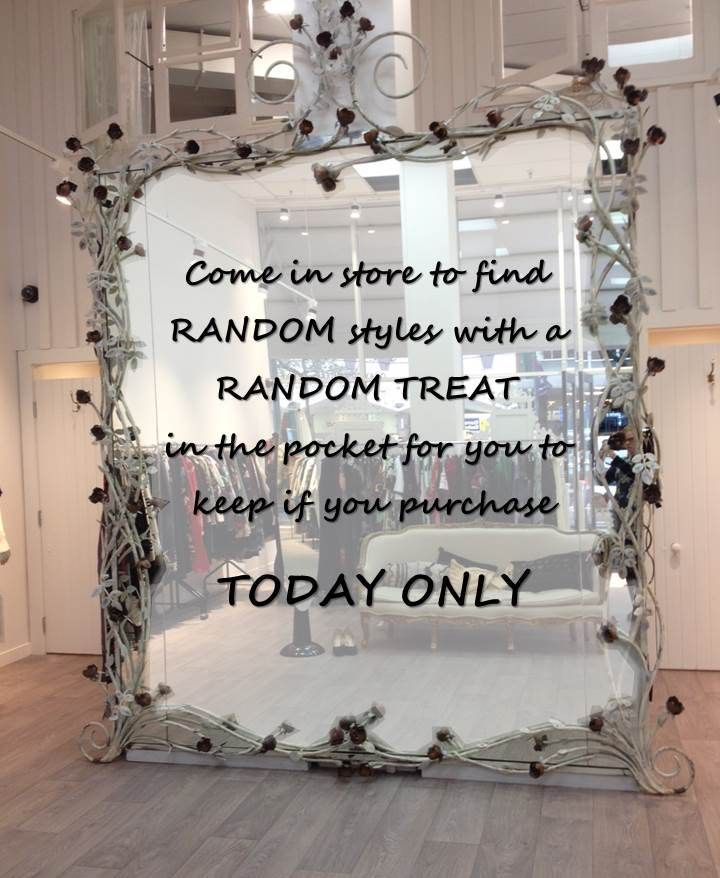 We would like to welcome you to our new store offering Random Treats EVERY DAY for ONE WEEK. Thursday's treat