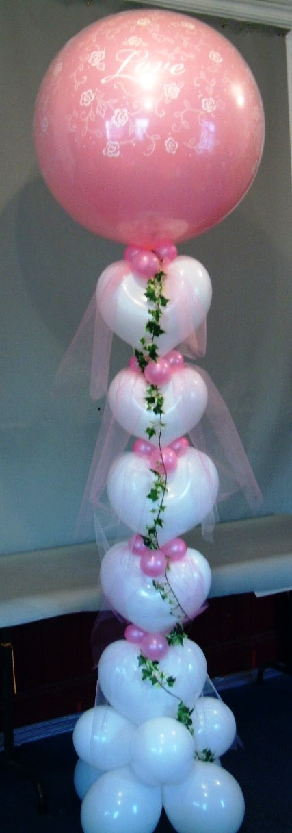 Balloon Wedding column.  #balloon-column #balloon-decor #balloon-wedding-decor #balloon-wedding-column